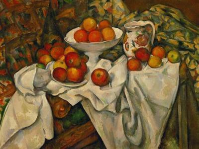 Apples and Oranges-Paul C?zanne-Framed Premium Giclee Print