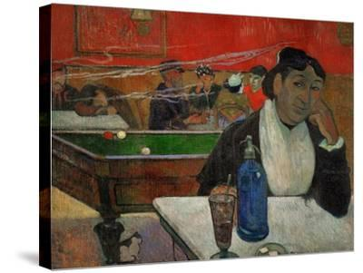 Woman in a Coffeehouse, Madame Ginoux in the Cafe De La Gare in Arles-Paul Gauguin-Stretched Canvas Print