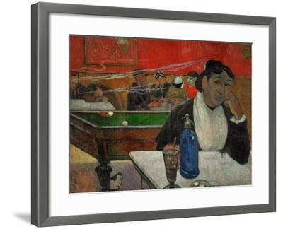 Woman in a Coffeehouse, Madame Ginoux in the Cafe De La Gare in Arles-Paul Gauguin-Framed Giclee Print