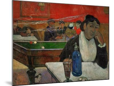 Woman in a Coffeehouse, Madame Ginoux in the Cafe De La Gare in Arles-Paul Gauguin-Mounted Giclee Print