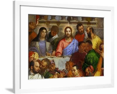 The Wedding at Cana, from the Benedictine Convent of San Giorgio Maggiore, Venice-Paolo Veronese-Framed Giclee Print