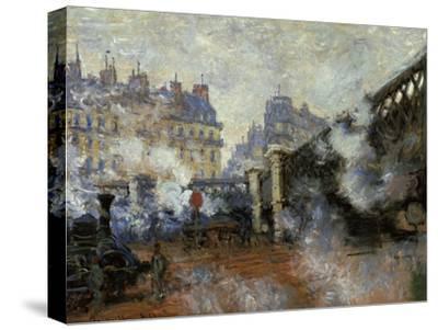 Le Pont De L'Europe, Gare Saint-Lazare, 1877-Claude Monet-Stretched Canvas Print