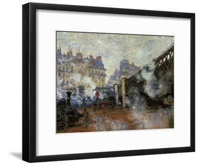 Le Pont De L'Europe, Gare Saint-Lazare, 1877-Claude Monet-Framed Giclee Print