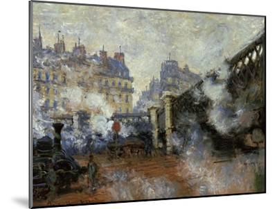 Le Pont De L'Europe, Gare Saint-Lazare, 1877-Claude Monet-Mounted Giclee Print