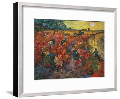 The Red Vineyard at Arles, c.1888-Vincent van Gogh-Framed Premium Giclee Print