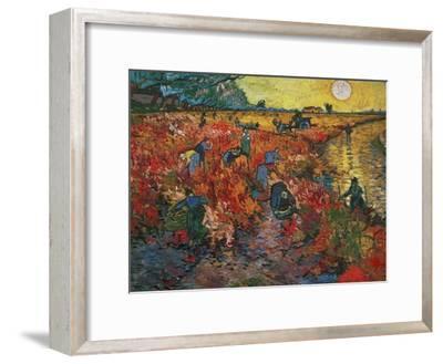 The Red Vineyard at Arles, c.1888-Vincent van Gogh-Framed Giclee Print