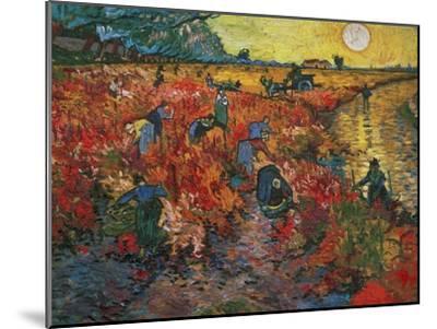 The Red Vineyard at Arles, c.1888-Vincent van Gogh-Mounted Giclee Print