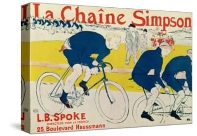 Poster for La Chaine Simpson, Bicycle Chains, 1896-Henri de Toulouse-Lautrec-Stretched Canvas Print