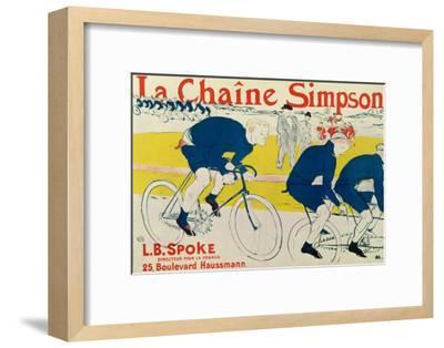 Poster for La Chaine Simpson, Bicycle Chains, 1896-Henri de Toulouse-Lautrec-Framed Premium Giclee Print