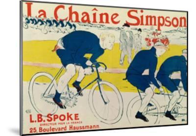 Poster for La Chaine Simpson, Bicycle Chains, 1896-Henri de Toulouse-Lautrec-Mounted Premium Giclee Print