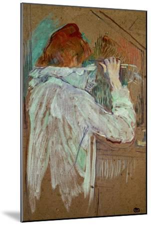 Woman Curling Her Hair-Henri de Toulouse-Lautrec-Mounted Giclee Print