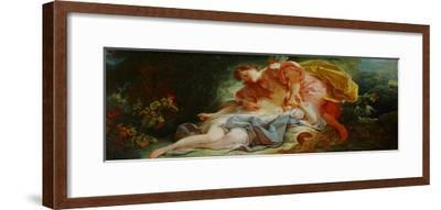 Procris and Cephalos-Jean-Honor? Fragonard-Framed Giclee Print