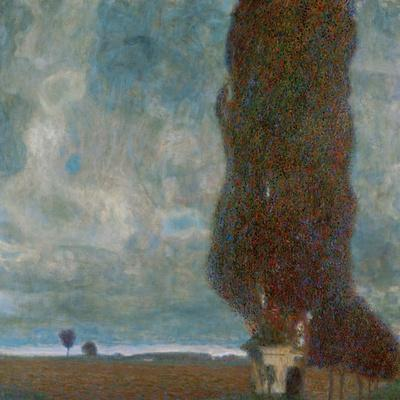 The Large Poplar Tree (II) or Coming Storm-Gustav Klimt-Stretched Canvas Print