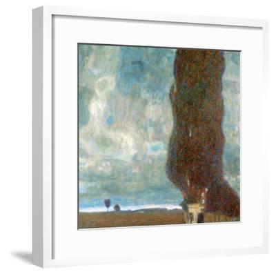 The Large Poplar Tree (II) or Coming Storm-Gustav Klimt-Framed Giclee Print
