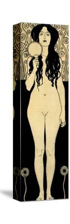 Nuda Veritas (Naked Truth), Inscribed Truth is Fire and to Speak Truth is Shining and Burning-Gustav Klimt-Stretched Canvas Print