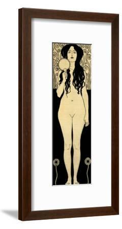 Nuda Veritas (Naked Truth), Inscribed Truth is Fire and to Speak Truth is Shining and Burning-Gustav Klimt-Framed Giclee Print