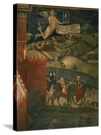A Hunting Party-Ambrogio Lorenzetti-Stretched Canvas Print