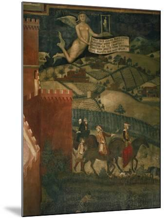 A Hunting Party-Ambrogio Lorenzetti-Mounted Giclee Print