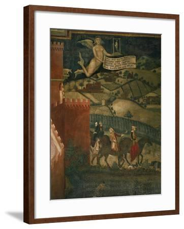 A Hunting Party-Ambrogio Lorenzetti-Framed Giclee Print