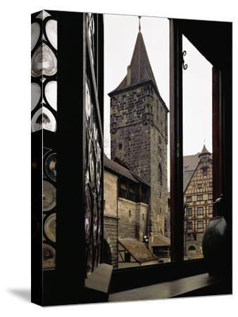 View from Albrecht Duerer's House in Nuernberg, Germany-Albrecht D?rer-Stretched Canvas Print