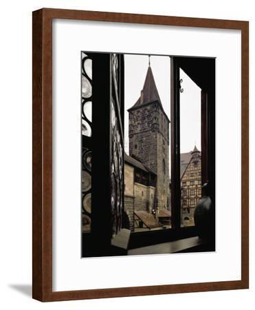 View from Albrecht Duerer's House in Nuernberg, Germany-Albrecht D?rer-Framed Giclee Print