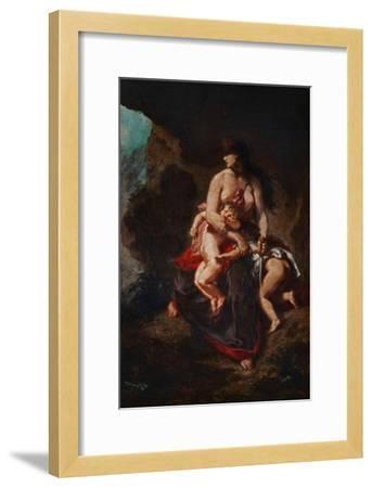 Wrathful Medea, 1862-Eugene Delacroix-Framed Giclee Print