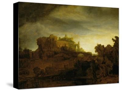 Castle at Twilight, 1640-Rembrandt van Rijn-Stretched Canvas Print