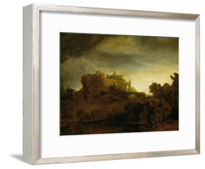 Castle at Twilight, 1640-Rembrandt van Rijn-Framed Giclee Print