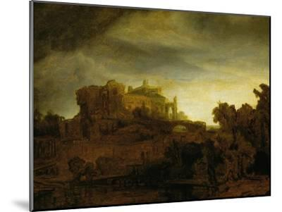 Castle at Twilight, 1640-Rembrandt van Rijn-Mounted Giclee Print