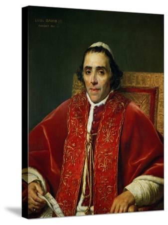 Pope Pius VII (1742-1823)-Jacques-Louis David-Stretched Canvas Print