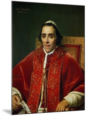 Pope Pius VII (1742-1823)-Jacques-Louis David-Mounted Giclee Print