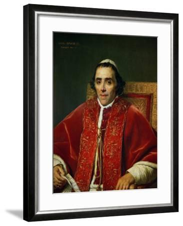 Pope Pius VII (1742-1823)-Jacques-Louis David-Framed Giclee Print