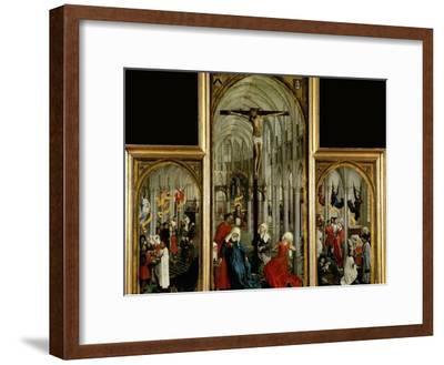 Altar of the Seven Sacraments, Painted Before 1450-Rogier van der Weyden-Framed Giclee Print