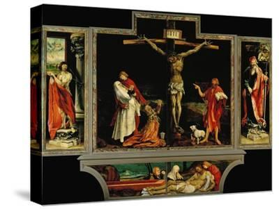 The Isenheim Altar, Closed, circa 1515-Matthias Gr?newald-Stretched Canvas Print