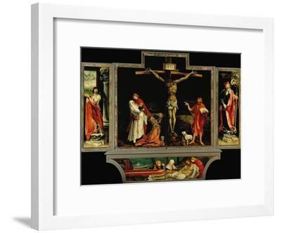 The Isenheim Altar, Closed, circa 1515-Matthias Gr?newald-Framed Giclee Print