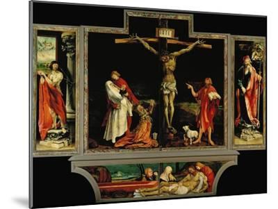 The Isenheim Altar, Closed, circa 1515-Matthias Gr?newald-Mounted Giclee Print