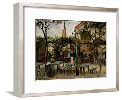 La Guinguette in Montmartre, c.1886-Vincent van Gogh-Framed Premium Giclee Print