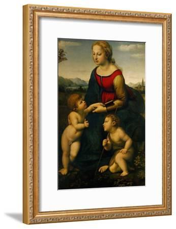 Madonna and Child with St. John the Baptist, 1507-Raphael-Framed Giclee Print