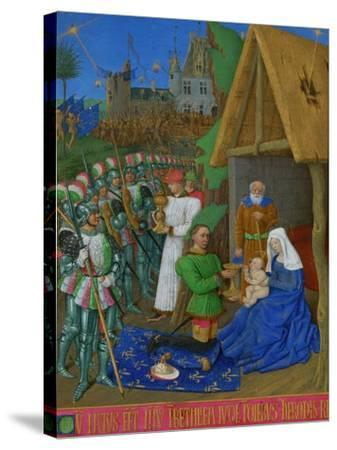 Les Heures D'Etienne Chavalier: Adoration of the Three Magi-Jean Fouquet-Stretched Canvas Print