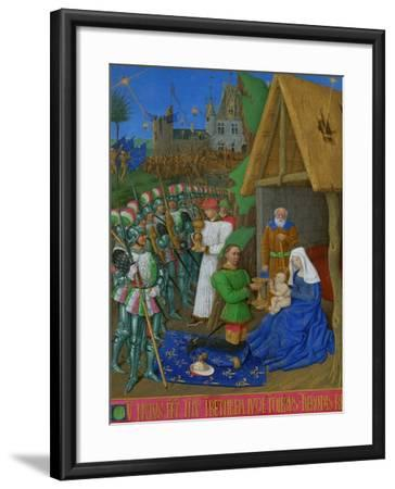 Les Heures D'Etienne Chavalier: Adoration of the Three Magi-Jean Fouquet-Framed Giclee Print
