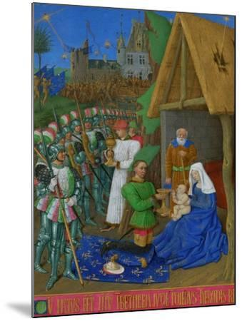 Les Heures D'Etienne Chavalier: Adoration of the Three Magi-Jean Fouquet-Mounted Giclee Print
