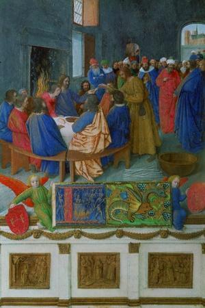 Les Heures D'Etienne Chavalier: The Last Supper-Jean Fouquet-Stretched Canvas Print