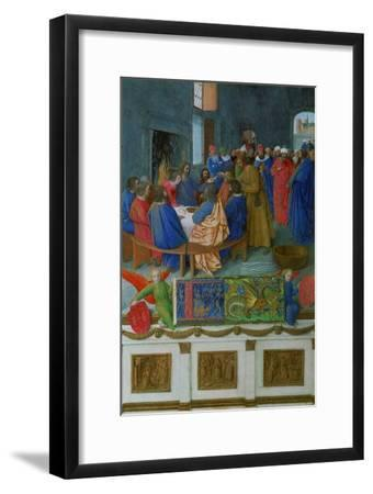 Les Heures D'Etienne Chavalier: The Last Supper-Jean Fouquet-Framed Giclee Print