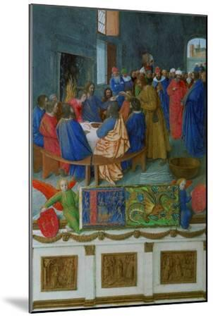 Les Heures D'Etienne Chavalier: The Last Supper-Jean Fouquet-Mounted Giclee Print