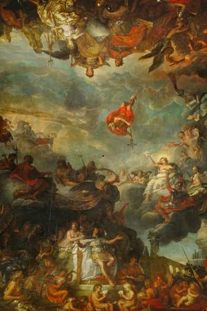 Louis XIV Governs Alone, Ostentation of the Neighbouring Powers of France-Charles Le Brun-Stretched Canvas Print