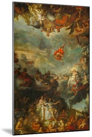 Louis XIV Governs Alone, Ostentation of the Neighbouring Powers of France-Charles Le Brun-Mounted Giclee Print