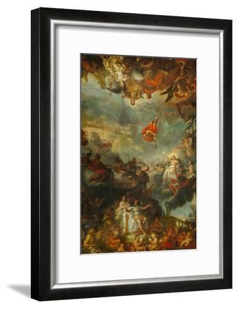 Louis XIV Governs Alone, Ostentation of the Neighbouring Powers of France-Charles Le Brun-Framed Giclee Print