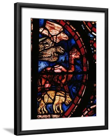 The Animals Boarding Noah's Ark, from the Noah-Window, 13th circa Stained Glass--Framed Giclee Print