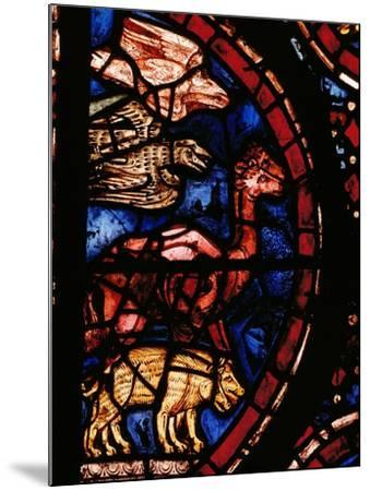 The Animals Boarding Noah's Ark, from the Noah-Window, 13th circa Stained Glass--Mounted Giclee Print