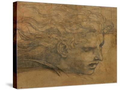 Head of a Young Man, Three Quarters Towards the Right-Raphael-Stretched Canvas Print